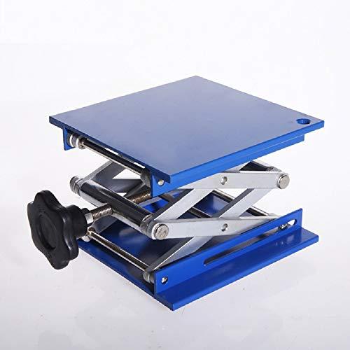 Lab Jack Stand Table Lift Laboratory Lift Aluminium Oxide Lab Stand Lifter Scientific Scissor Lifting Jack Platform 6X6