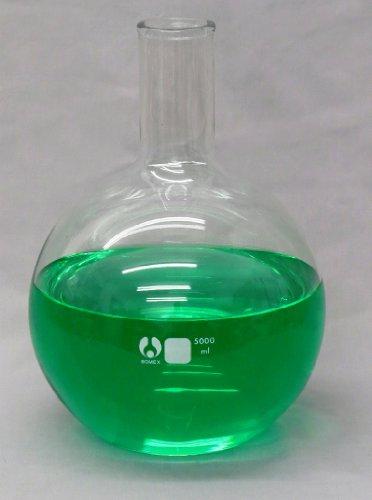 Bomex Glass 5000ml Flat Bottom Boiling Flask 5 Liter