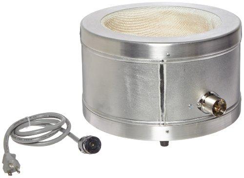 Glas-Col 100B TM114 Series TM Aluminum Housed Mantle for Spherical Flask 5000ml Flask Capacity 115V