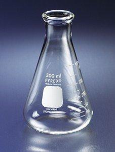 Flask ERLENMEYER NARROW MOUTH ~ PYREX GLASS 2L