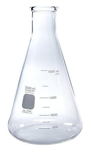 Pyrex Erlenmeyer Flask Measuring 2000 mL