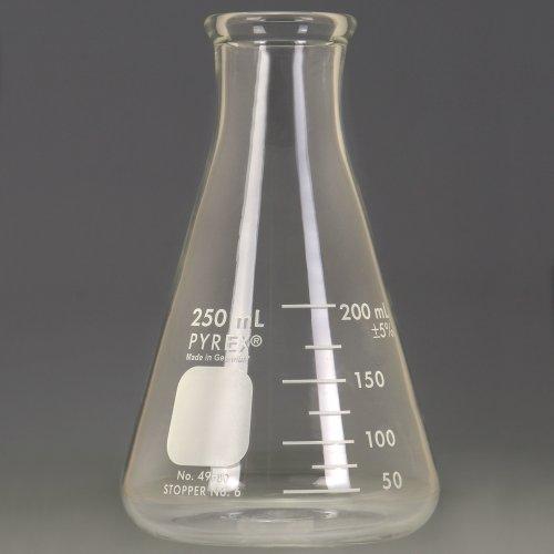 Pyrex Erlenmeyer Flask Measuring 250 mL Case of 48