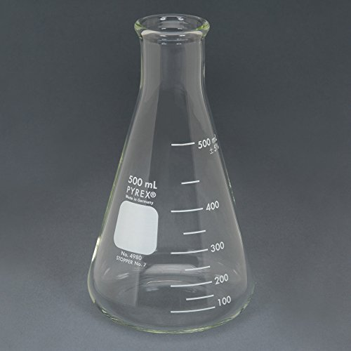 Pyrex Erlenmeyer Flask Measuring 500 mL Case of 36