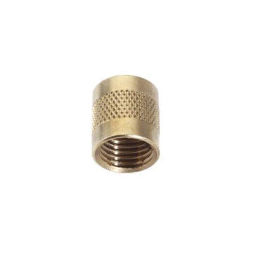 C&D Valve CD2245 14 flare cap round brass w neoprene o-ring seal pack of 25 caps