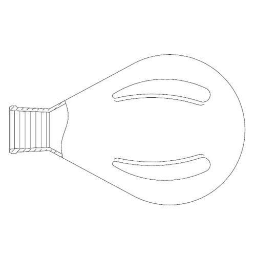 Evaporating flask glass 2429 2000mL - 008764 - EACH