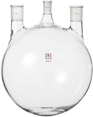 Across International SP-10L3N 2440 3445 Heavy Wall 10 L Round Bottom 3-Neck Flask