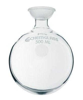 Chemglass CG-1508-18 Series CG-1508 Heavy Wall Round Bottom Flask Single Short Neck 3525 Socket Joint 5000 mL Capacity