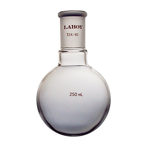 Laboy HMF010319 Glass Single Neck Round Bottom Boiling Flask 250 mL with 2440 Joint