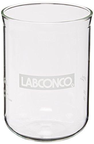 Labconco 7542800 Borosilicate Glass Fast-Freeze Flask Bottom 600ml Volume