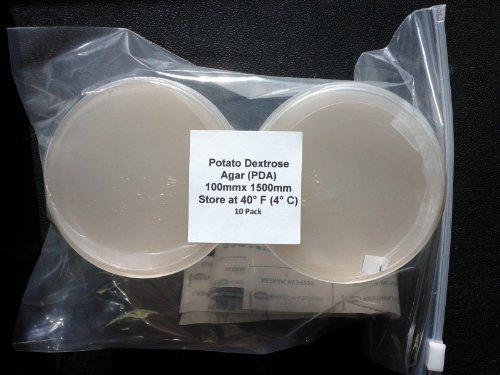 Pre-poured Potato Dextrose Agar PDA Petri Dishes 20 2 Packs of 10