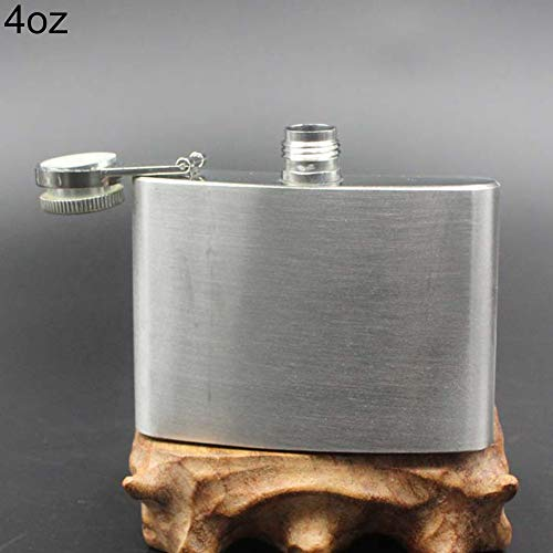 Oil Sprayer Maserfaliw 4 5 6 7 8 10 oz Stainless Steel Vodka Whiskey Alcohol Hip Flask Cap Funnel - 4oz Practical Holiday Gifts And Essentials For Life