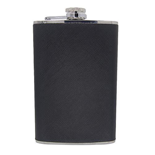 Portable 4568oz Stainless Steel Vodka Whiskey Alcohol Hip Flask Cap Funnel - 8 Oz SoundsBeauty