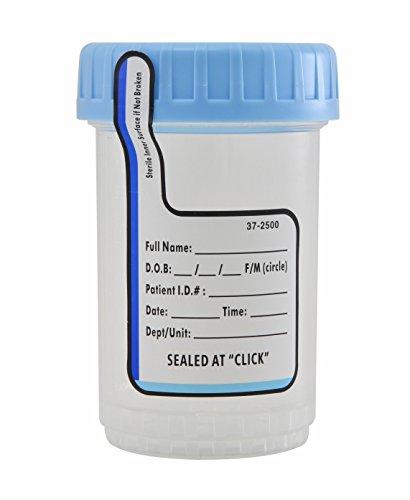 ClikSeal Cup Sterile Empty Specimen Container 120ml 200 Per Case by American Precision Plastics