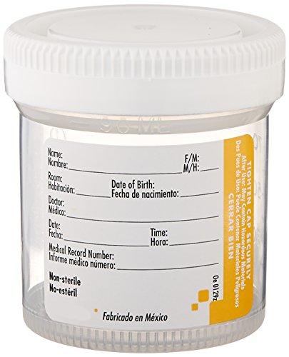 Samco Scientific 30 2500 Amber Tinted Samco Urine Guard 24-Hour Urine Specimen Container 2500 ml Capacity Pack of 40