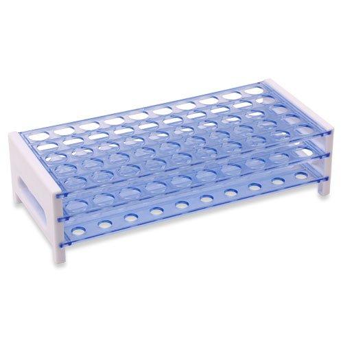 Karter Scientific 208U2 Plastic Test Tube Rack for 1517 mm Tubes Holds 50 Detachable