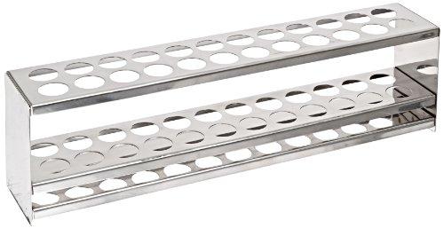 BrandTech B8222 Stainless Steel Test Tube Rack 20mm x 24 tubes 310mm Length x 60mm Width x 90mm Height