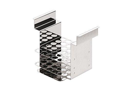 JULABO 9970320 Stainless Steel Test Tube Rack Up to 150 °C for 30 tubes 100 x 17 mm Dia 17 cm Height 17 cm Wide 12 cm Length