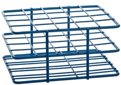 "Bel-Art F18788-2001 Poxygrid ""Half-Size"" Test Tube Rack 18-20mm 20 Places 4¹⁵₁₆ x 4¹₄ x 2¹₂ in Blue"
