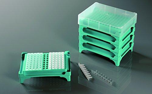 25pcs Azzota PCR Tube Rack 96 Well 8x12 Individual Cap 5pk 25pcscase