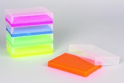 F18902-0006 - Flourescent Orange - SCIENCEWAREÂ 96-Well PCR Tube Rack with Cover Bel-Art - Case of 20