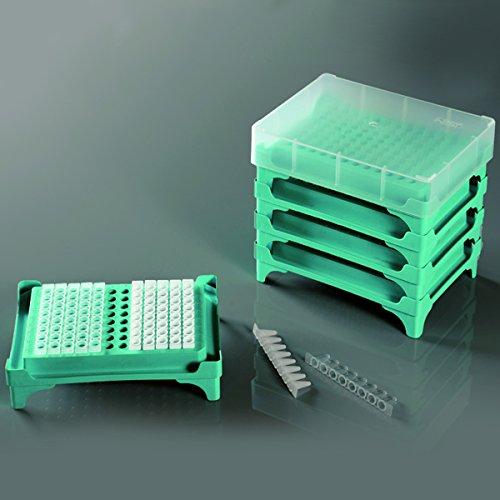 PCR Tube Rack96 well 812 one cap for 5 pcs 5pk 25cs 407101