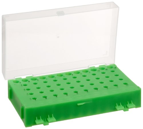 Heathrow Scientific HD2344A 5 Piece Polypropylene Reversible PCR Rack Assorted Colors Set