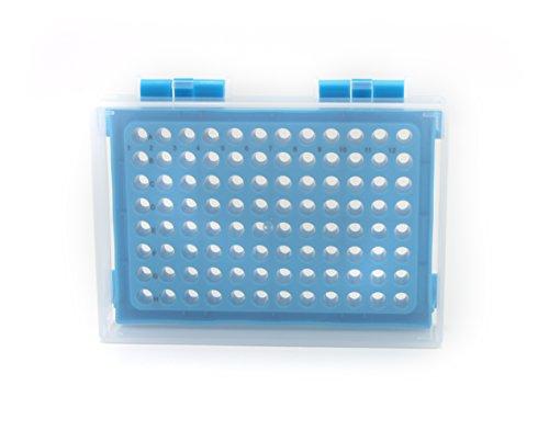 Heathrow Scientific HD23461C Polypropylene PCR Rack 96 Well Blue Pack of 5