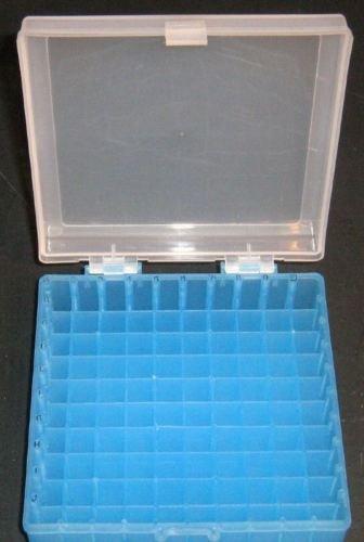 Freezer Plastic Storage Box 10x10 100 Positions for Centrifuge Cryogenic Tubes and Cryotube Vials