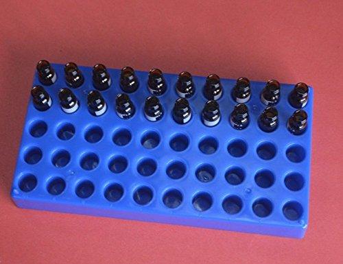 Vials Rack For 4 mL Vials Blue - 50 Holes 1 Piece