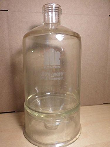 Kimble KONTES Ultra-ware 2000mL 2L Plastic Coated Conical Bottom HPLC Reservoir
