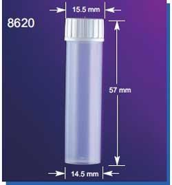 SEOH 145mm 5mL Multi-Vial No Caps Polypropylene for Liquid Scintillation Beta Ga