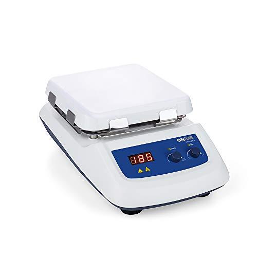 ONiLAB 8050122211 550C Magnetic Hotplate Stirrer Max Heating Temperature to 550℃ Speed 1500rpm White Glass Ceramic