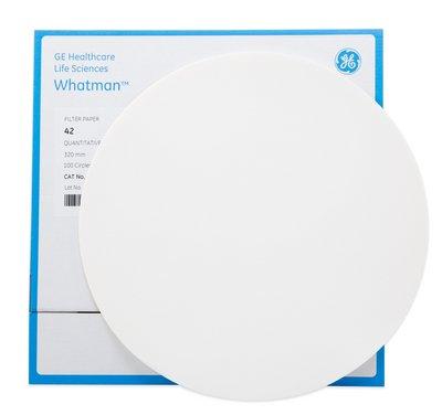 Grade 42 Ashless Filter Paper for Instrumental Analysis 110 mm circle - Whatman Quantitative Filter Papers Ashless Grades ash 0007 Grade 42 GE Healthcare
