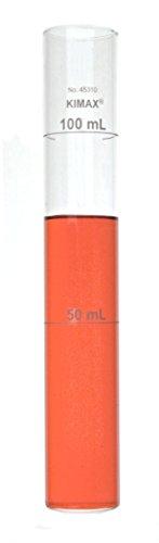 Kimble 45310-50100 Borosilicate Glass 50mL - 100mL Unmatched Nessler Low Form Color Comparison Tube Case of 6