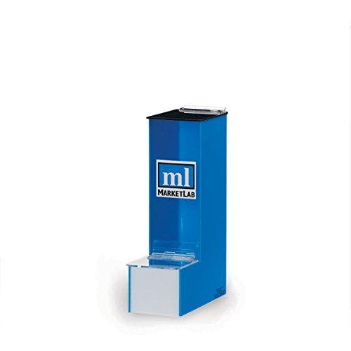Blue Acrylic Culture Tube Dispenser Holds 12mm x 75mm Tubes 325W x 4D x 12H