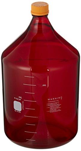 Corning Pyrex Borosilicate Glass Low Actinic Round Media Storage Bottles with Screw Cap 10000ml Capacity