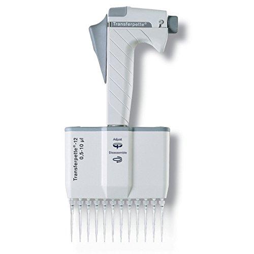 BrandTech 703632 Transferpette 12 Channel Pipette 30-300 uL Volume