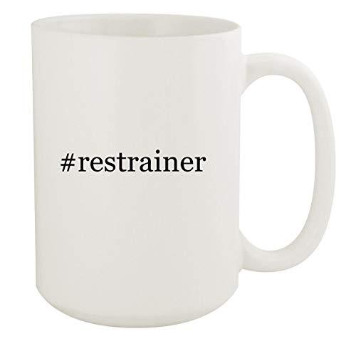 restrainer - 15oz Hashtag White Ceramic Coffee Mug