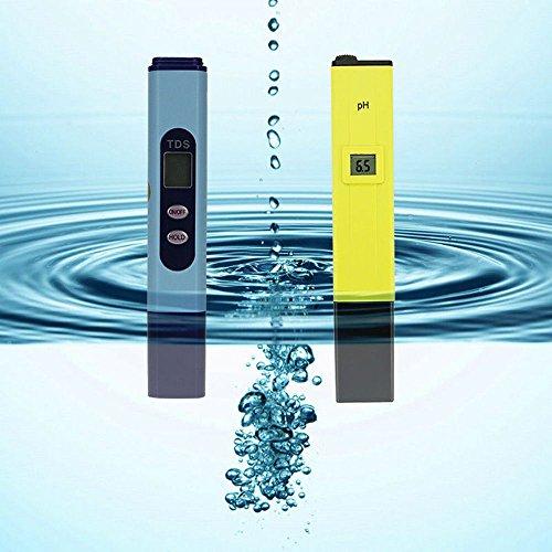IMAX Digital PH Meter Calibration and TDS Tester Meter for Aquarium Pool Hydroponic Water Monitor 0~9999 PPM