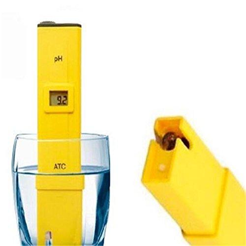 Hq Pocket Pen Type Ph Meter Analyzer Portable LCD Digital Ph Tester Acidity Kit for Laboratory Aquarium Pool Measure Range 0-14