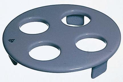 CoorsTek 60445 Porcelain Ceramic Desiccator Plate for Crucibles with 3 Feet 4 Holes 115mm OD