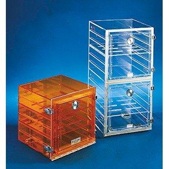 Acrylic Desiccator with Gas Port Clear 24W x 24H x 18D