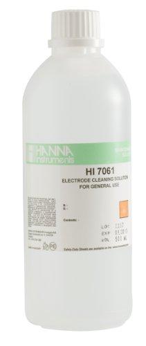 Hanna Instruments HI7061L General Purpose Electrode Cleaning Solution 500mL Bottle