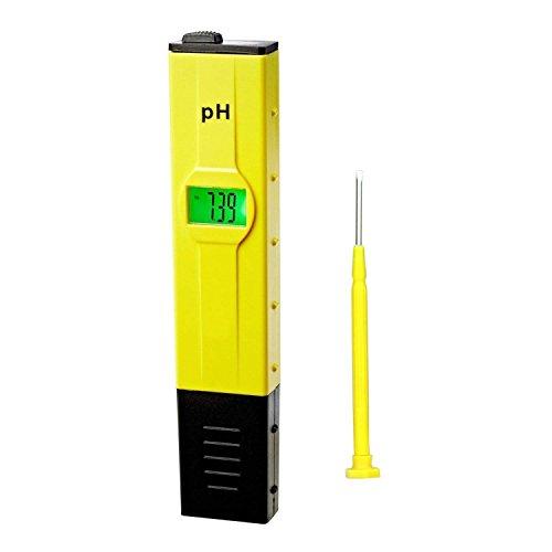DrMeter 001pH High Accuracy Pocket Size pH Meter with ATC Backlit 0-14 pH Measurement Range