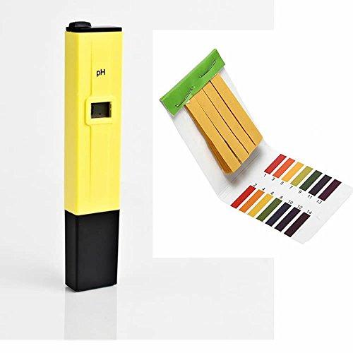 GOOTRADES Digital PH Meter PH Tester Pen Water Quality 0-14 pH Measurement Range with Free Test Paper