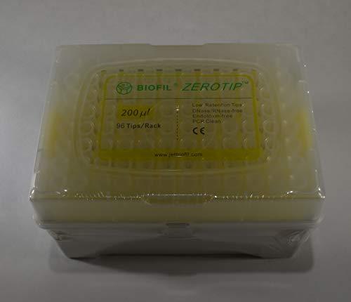 case Jet ZEROTIP 10-200 uL Pipette Tips Sterile 20 Racks of 96