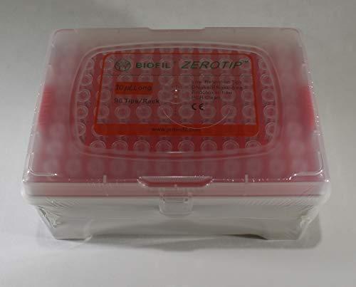 case Pipette Tips 01-10 uL Jet ZEROTIP Sterile 10 Racks of 96