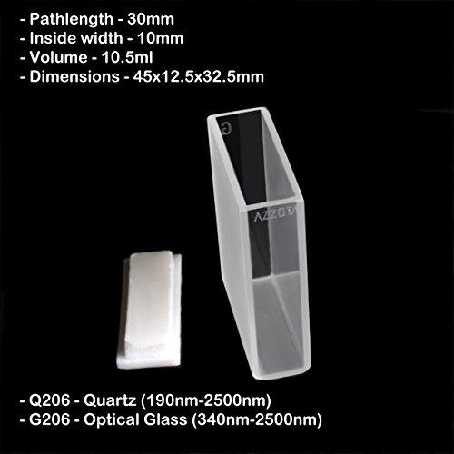 30mm Pathlength Optical Glass Cuvettes - 105ml