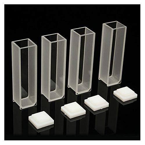 Adealink 4Pcs Visible Cuvette Cell 35ml 10mm QuartzGlass Spectrometer Micro Optical Spectrophotometer