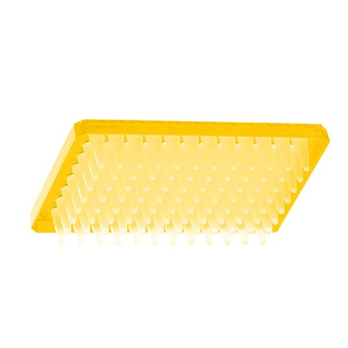 Axygen P-96-450V-Y Deep Well 96-Well x 500 microliter Assay Storage Microplate with V-Bottom Wells Yellow PP 1 Case 10 PlatesUnit 5 UnitsCase